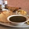 Kushukushu - 料理写真:クシュクシュランチ。ホーレン草カリーでナンはチーズナン