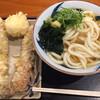 Chikusei - 料理写真:かけうどん 中 (温) トッピング : ゲソ天、ちくわ天、半熟卵天