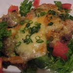 ビアド  - 若鶏のねぎみそチーズ焼き
