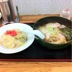 12794328 - チャーシュー麺とチャーハン