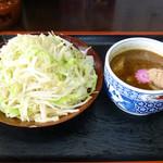 ラーメン金太郎 - 林神龍 金太郎 野菜盛りつけ麺 並盛り 850円