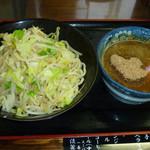 ラーメン金太郎 - 林神龍 金太郎 野菜盛りつけ麺 小盛り 750円