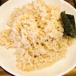 心 - 玄米ご飯