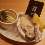 オイスタープレート - 生牡蠣、牡蠣マリネ