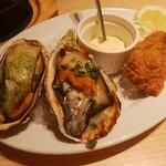 オイスタープレート - 焼き牡蠣2種、カキフライ