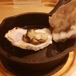 オイスタープレート - 蒸し牡蠣