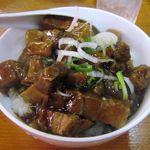 孟渓苑 - セットのミニ豚角煮丼