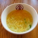 12795957 - ちょい中華丼のセットのスープ