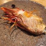 御料理 うえの - 足赤海老 頭