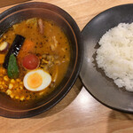 Soup Curry 笑くぼ - ワタシの頼んだゴロゴロ野菜のカレー