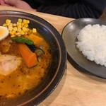 Soup Curry 笑くぼ - 旦那さんのチキンカレー