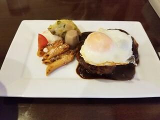 洋食 葉椰子 - デミグラスソースのハンバーグ 1300円
