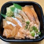 丼丸 - サーモンづくし丼 540円(税込) 【全体】