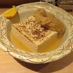 久茂地日本酒エビス  - 「島豆腐」(¥150)と「ネギ巾着」(¥200)