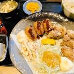Ichigen - 日替わりランチ牡蛎フライとから揚げ定食¥850