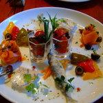 ディッシュ サカイマチ - 5種の前菜盛合せ:いつも美しくどれも美味しい