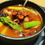千真野 - 岩手産「真蛸」の桜煮。トマト風味で。