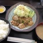 味民 - しょうが焼き定食(650円)