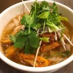 西安刀削麺酒楼 - ネギチャーシュー刀削麺(小)