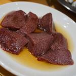 新鮮ホルモン豚風 - レバーの塩味