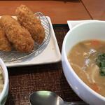 デニーズ - ・牡蛎フライと豚汁膳