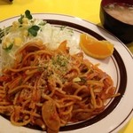 キッチンABC - 昔懐かし、ナポリタンスパゲティ ランチタイム ¥630(豚汁付き)