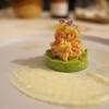 明神館 - 料理写真:フレンチの写真をいくつか。アボガドに蟹の身をほぐして。根セロリのソースで。