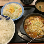 松屋 - ダブルチーズカチャトーラ定食