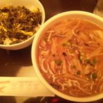 12802063 - フカヒレ刀削麺に高菜ご飯!