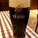 フジオ軒 - ヱビス黒生ビール