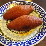 クルド家庭料理 手芸カフェ メソポタミア - 牛ひき肉団子のブルグル包み揚げ