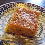 クルド家庭料理 手芸カフェ メソポタミア - クルミとゴマのヨーグルトケーキ