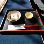 濱田屋 - 胡麻豆腐 わさび醤油 ( ゚Д゚)ウマー