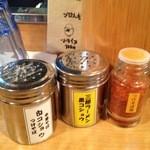 麺場 七人の侍 - 調味料