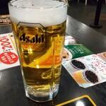 幸楽苑 - 生ビール¥500