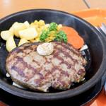 武蔵ハンバーグ - 料理写真:100%ビーフ肉塊ハンバーグ300g