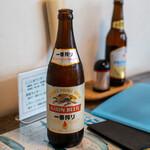 くじら家 - 2020.1 ビール(630円)キリン一番搾り中瓶