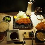 ポンチ軒 - 特ロース豚かつ定食 & アジフライ