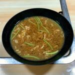 豚竹林 - 珍味スタミナスープ(豚バラ入り味噌汁)