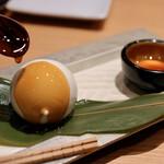 和食バル音音 - もっちり笹餅豆冨
