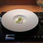Inkamerakonterattsu - 新玉葱のムース~菜の花のソース