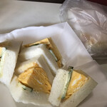 128078429 - シンプルな玉子サンド、パンふわふわ、美味しい!