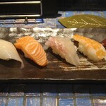 お魚とおでんとお寿司1122 富久田や - 寿司5貫500円