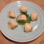 三漁洞 - 焼き茄子のゴマソース 800円(税別)