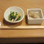 三漁洞 - お通し 700円(税別)