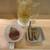 三漁洞 - 料理写真:ハイボール 600円(税別)、お通し 700円(税別)