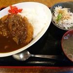 居酒屋なっきょい - カツカレー定食(700円)