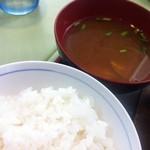 文化亭 - あさり赤出汁とご飯(ランチ)