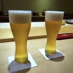 鮨 さかい - ビール