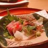 日本料理 つるま - 料理写真:お造りブリと鰆